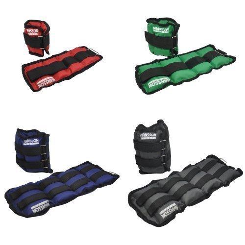Hansson.Sports Gewichtsmanschetten Laufgewichte für Fuss/Hand-Gelenke Paar - 2x1,5KG blau