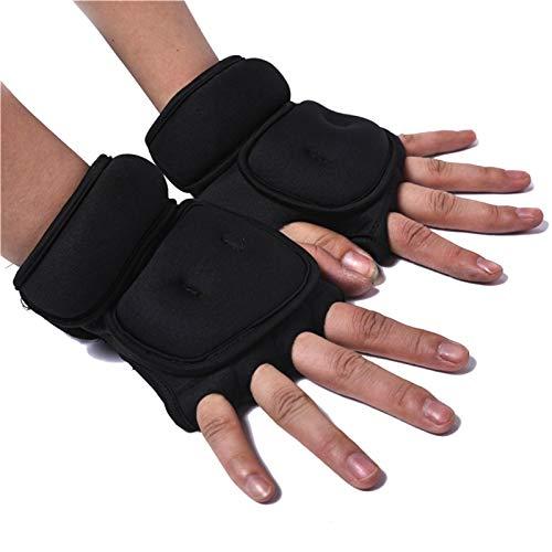 POHOVE Gewichtete Boxhandschuhe, 2 kg, Fitnesshandschuhe, Gewichtheben, Fitnessstudio, Workout, Boxhandschuhe, Sandsack, mit Handgelenkstütze für Fitnessstudio, Boxen