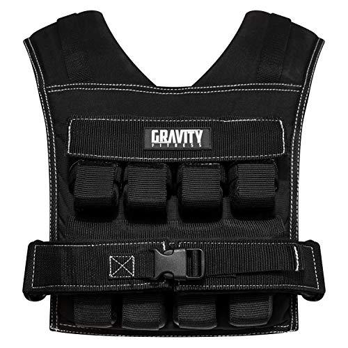 Gravity Fitness | Gewichtsweste, 20 kg, voll verstellbar. Für Calisthenics, Crossfit, Krafttraining, Heim- und kommerzielle Nutzung geeignet