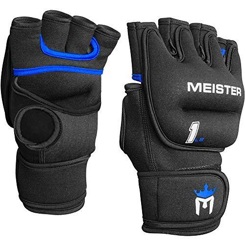 Meister Elite Neopren-Handschuhe für Cardio- und schwere Hände, 0,5 kg, Schwarz/Blau, 2 Stück