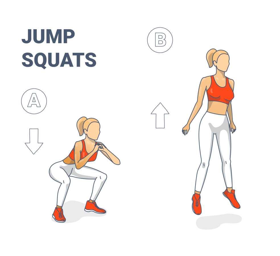 Frau trainiert Jump Squats